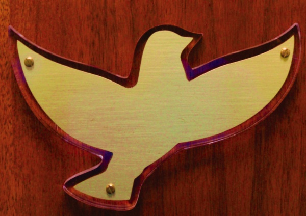 Brass on Lucite Dove -