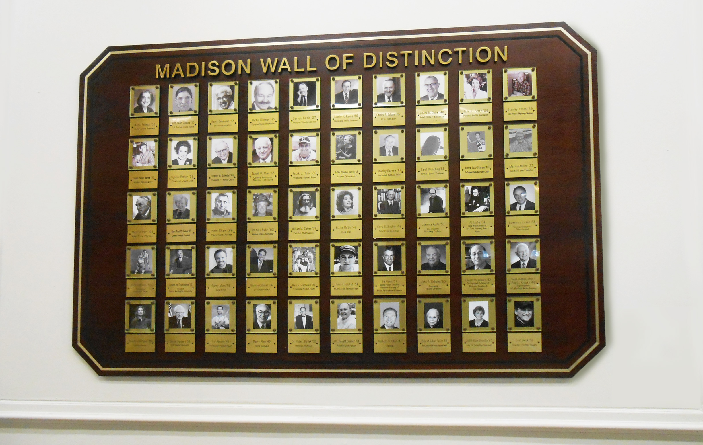 Wall of Distinction - Madison High School