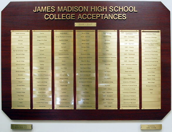 Acceptance - James Madison High School