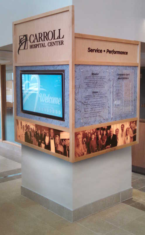 Interactive 4 Sided Donor Recognition Pillar - Carroll Hospital