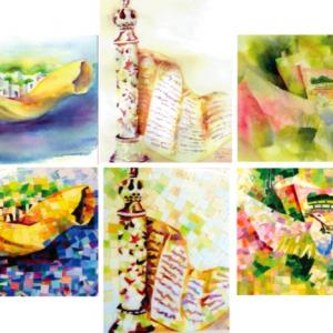 Click to Enlarge Mosaics From Watercolors