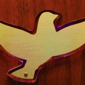 Click to Enlarge Brass on Lucite Dove